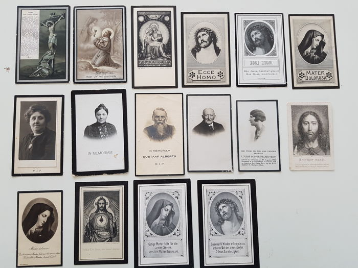 Collection of 112 antique prayer cards 1872 / 1951  - in memoriam cards - prayer cards - memorial cards - images pieuses - Sterbebilder - The Netherlands / Limburg