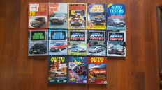 Lot of 13 Autotest yearbooks