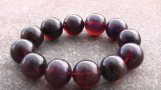 brand new Bracelet made from Indonesian cherry colour Amber, 47 gram - no reserve price