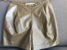 Luda Nikishina - Polished Leather Shorts
