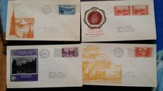USA, Canada -  Set of 70 FDC from the 30's to the 60's