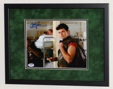 Charlie Sheen originally hand signed photo - Premium framed + Certificate of Authenticity from PSA