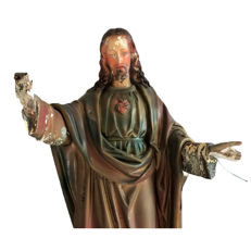 Jesus statue of 68 cm (plaster) made around 1900 (NL)