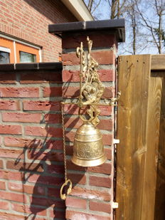 Heavy and large bronze/brass monastery bell - 1st half 20th century.