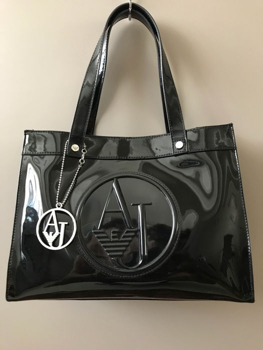 51a341744ef8 Armani Jeans – Black bag with handles and shoulder strap - Catawiki