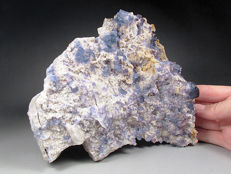 Magnificent Blue and Purple Fluorite - 17 x 14 x 4 cm - 1350 gm