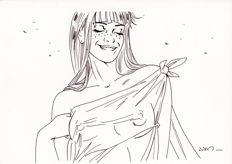Jim (Terrasson, Thierry) - Original drawing - Marie - Een nacht in Rome