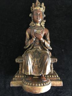 Sculpture Buddha Maitreya - Tibet - 2nd half of the 20th century