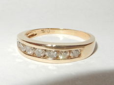 "18kt Yellow gold eternity ring with diamonds.   0.50 ct Size 16.75 mm  ""No reserve price"""