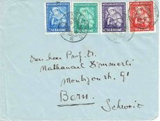 Suriname - selection of postal items with frontrunners, air mail, registered and censored