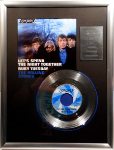 "The Rolling Stones - Let's Spend the Night Together - 7"" Single London Records platinum plated record Special Edition"