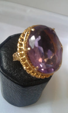Or 18K with amethyst - size 56