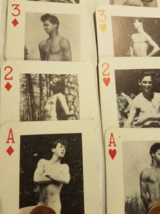 Gay interest; Lot of 2 original Climax Gay Playing Card decks - 1970s