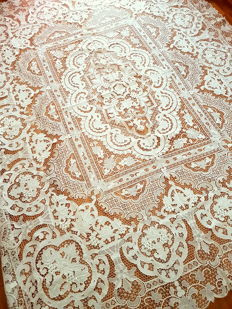 Tablecloth, Venezia, linen, handmade, masterpiece