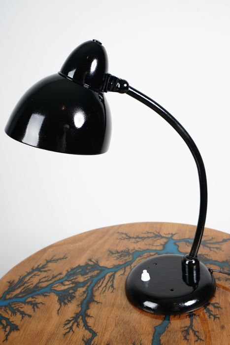 Designer unknown – black table lamp