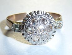 18 kt / 750 rose gold with 9 rose-cut diamonds of approx. 0.50 ct *no reserve*