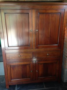 Stylish cabinet in cherry wood, 1990s