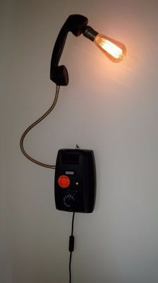 Unique industrial Ericsson 1961 PTT - Wall lamp / telephone lamp - the Netherlands - 2nd half 20th century.