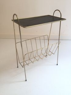 Unknown - side table with magazine rack - Pilastro
