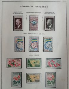 Former French Colonies 1959-1974 - Gabon - Almost complete collection.
