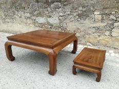 Two Chinese Chow Leg Monk tables - China - mid 20th century