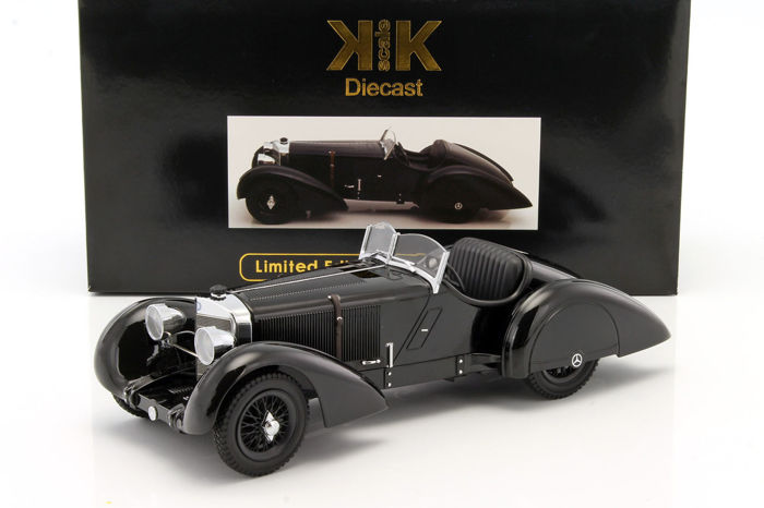KK-Scale - Scale 1/18 - Mercedes-Benz SSK Count Trossi 1930 - Black