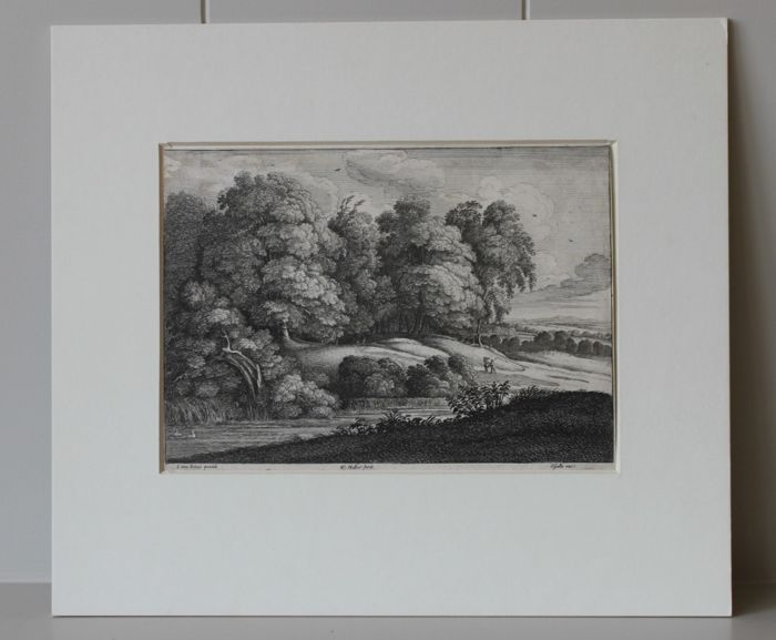 Wencesclaus Hollar (1607-1677) - The edge of the wood - A print formerly in the Kupferstichcabinet in Stuttgart - 1649