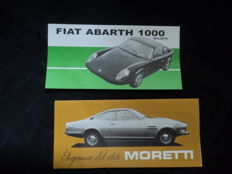 2 Abarth and Moretti brochures, 1960s