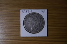 USA - Morgan Dollar 1886(O)  2 pcs - silver