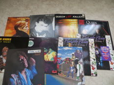 Legends of Rock -  Various Artists lot of eleven  (11) LP Albums   Prince, Bowie, Queen, Hendrix