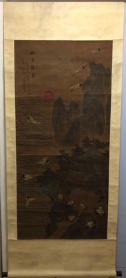 Reproduction of old painting on silk - China - second half 20th century