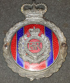 ROYAL ENGINEERS -  VINTAGE CAR BADGE BY J.R.GAUNT