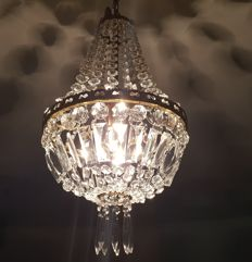 Crystal bag chandelier from the 1960s