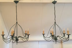 Pair of chandeliers / pendants, first half 20th century