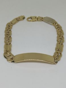 Bracelet with 18 kt gold plaque - 37.7 g - 23 cm