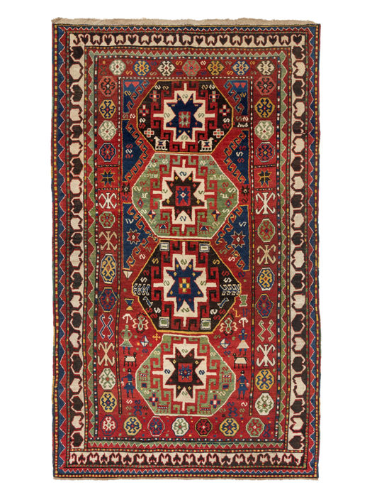 Antique Borchalou-Caucasian rug, Around 1870, Size: 268 x 157 cm. ( 105.5 x 61.8 inches )