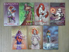 Dawn: Three Tiers # 1-6 and Dawn: Return of the Goddess# 4, all signed by Joseph Michael Linsner + 4 Dawn comics - 11x sc (1996-2005)