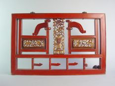 Framework with openwork doors with hooks – China – Late 19th/early 20th century.