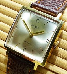 ANKER 09 Art Deco 17 Rubis - men's wristwatch from the 50s