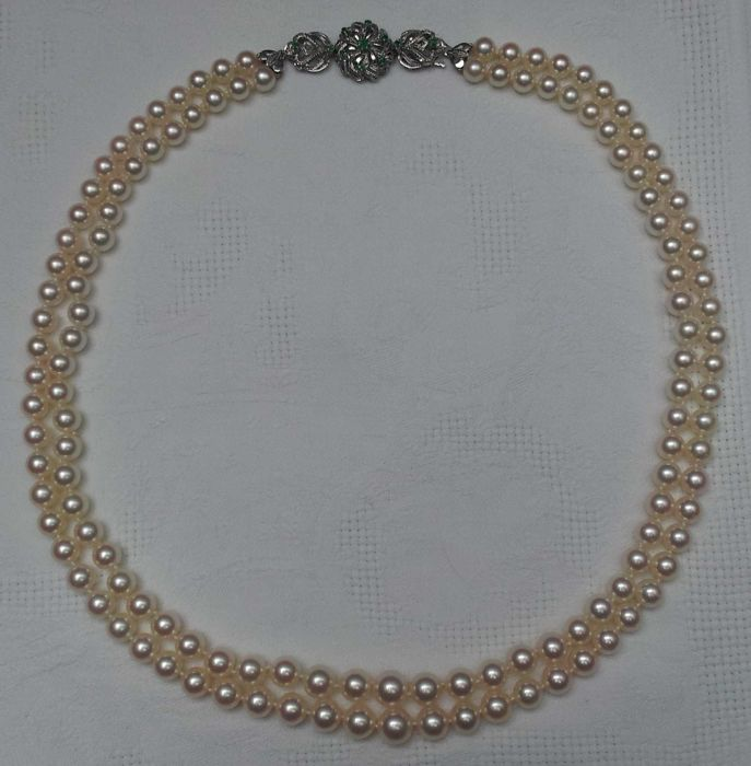 Cultured Akoya pearl necklace 6.3-9.1 mm