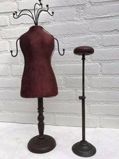 Hat stand and a jewellery stand