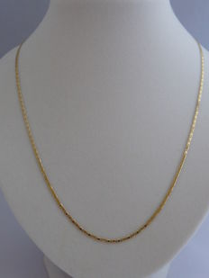 14K Gold necklace   Weight: 1.70 g. Length: 55 cm.  Width: 1.69 mm.