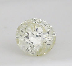 0.50 ct. Round Brilliant Natural Diamond - N - I2 - no reserve price