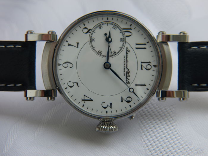 30 IWC Schaffhausen marriage men's wristwatch - ca 1900