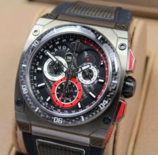 Savoy Extreme Carbon Swiss Made Limited Edition - Titanium IP Case Men's Watch