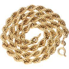 14 kt – Yellow gold rope necklace – Length: 43.5 cm