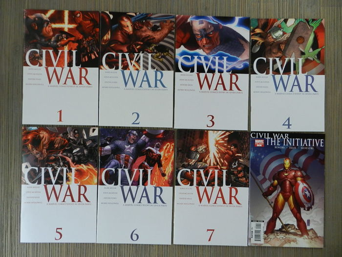 Marvel Comics - Complete Set Of Civil War #1-7 + Civil War Specials & Captain America #25 + Fallen Son Specials - X16 SC - (2006/2007)