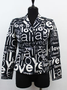 "Very Rare Fran Wore Moschino ""All Over"" Print Blazer"