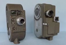 2 Pocket Film Cameras, B&H and UCC with spring drive from 1939 and 1952