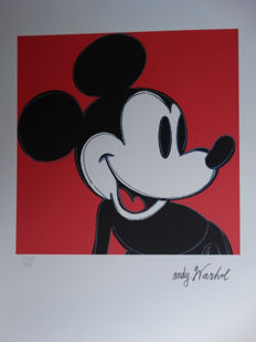Andy Warhol - Lithograph CMOA - Mickey Mouse (1986)